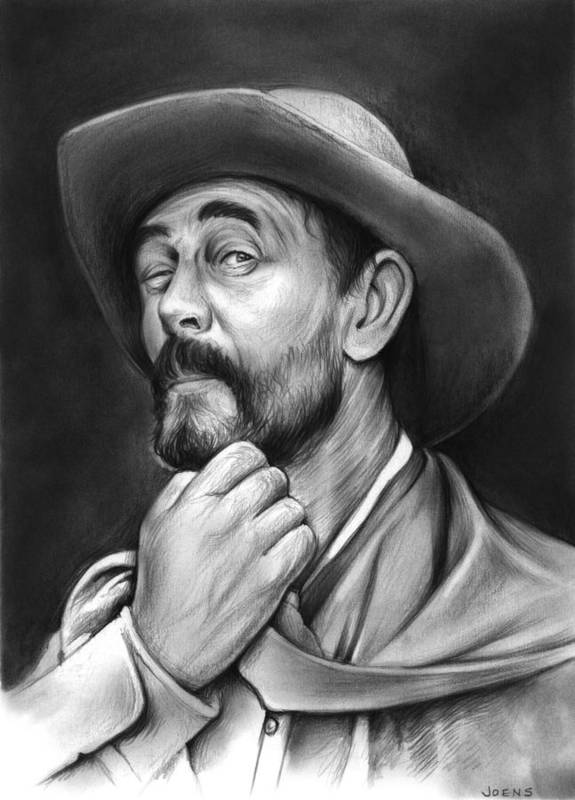 Gunsmoke Art Print featuring the drawing Deputy Festus Haggen by Greg Joens