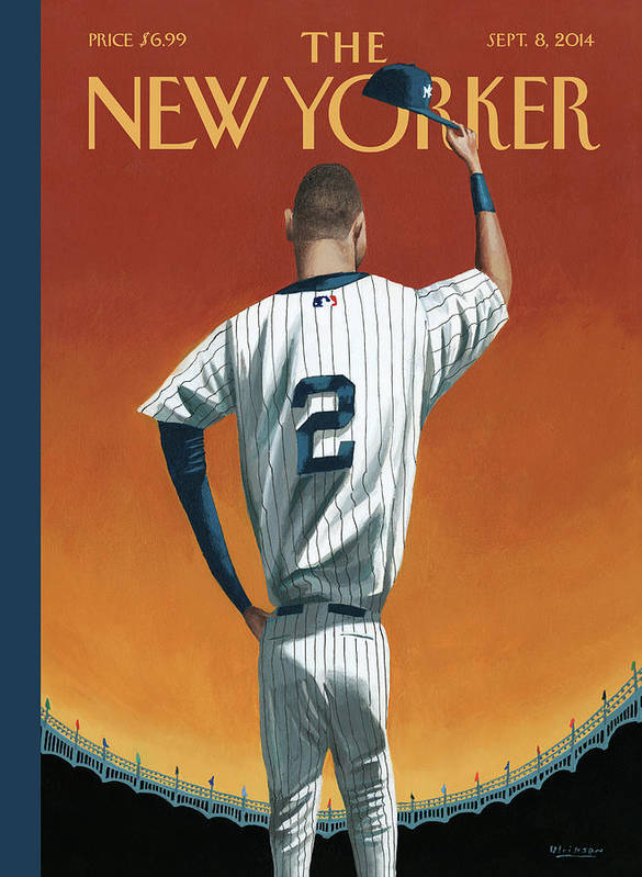 Retirement Art Print featuring the painting Derek Jeter Bows Out by Mark Ulriksen