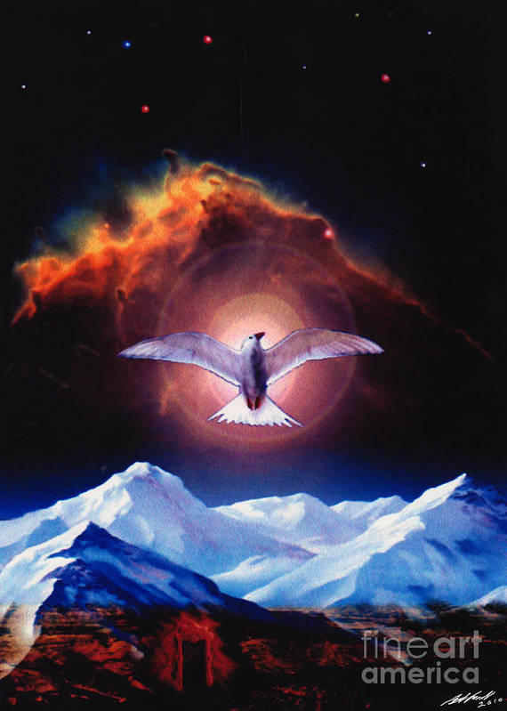 Dove Art Print featuring the painting Dove of Universal Peace by Michael D