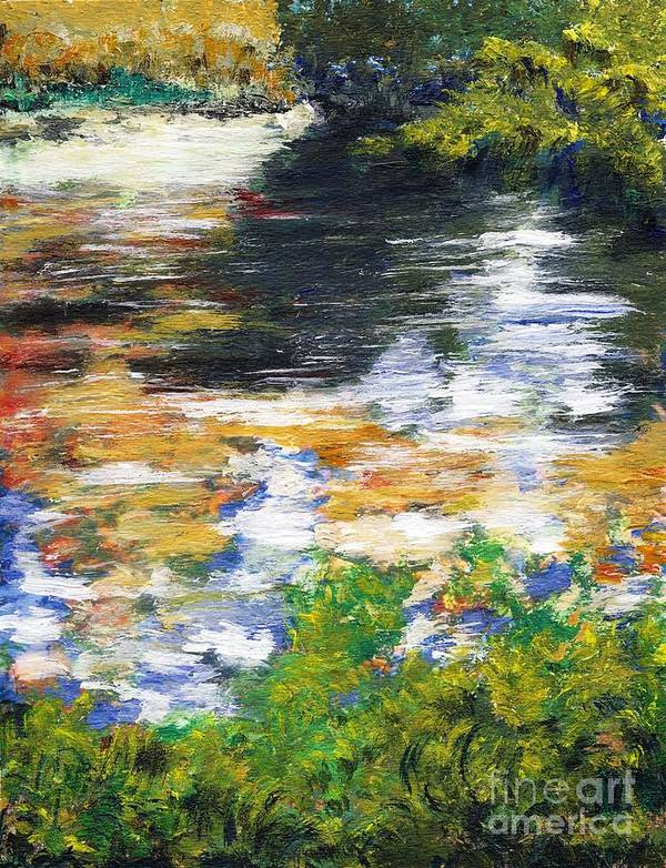 Los Angeles Art Print featuring the painting Ferndell Creek Reflections by Randy Sprout