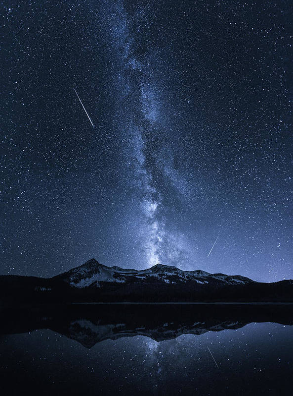 Colorado Art Print featuring the photograph Galaxies Reflection by Toby Harriman