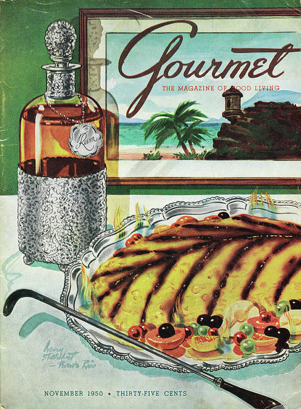 Food Art Print featuring the photograph Gourmet Cover Of An Omelette Au Ruhm by Henry Stahlhut
