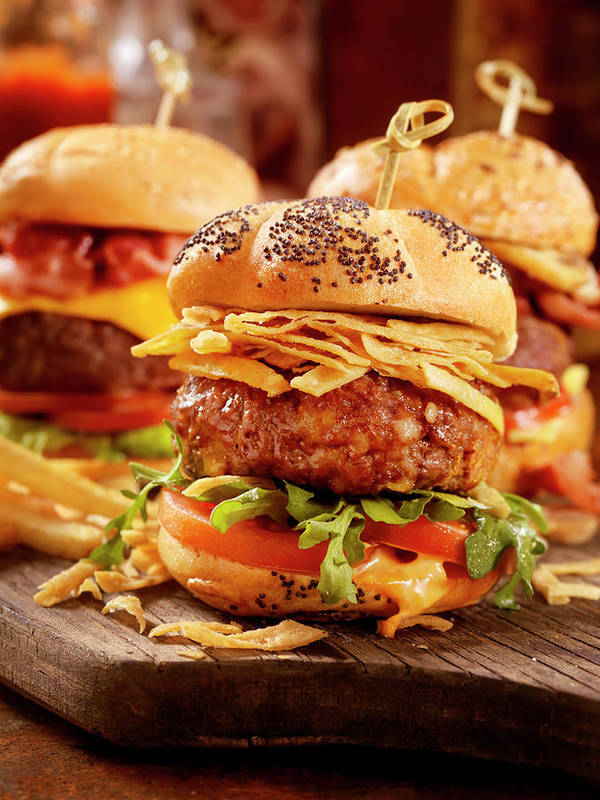 Stout Art Print featuring the photograph Gourmet Sliders by Lauripatterson