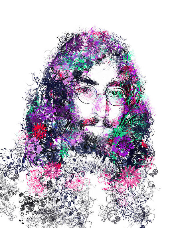 John Lennon Art Print featuring the painting Imagine 2 by Bekim M
