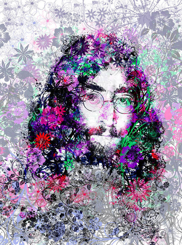 John Lennon Art Print featuring the painting Imagine by Bekim M