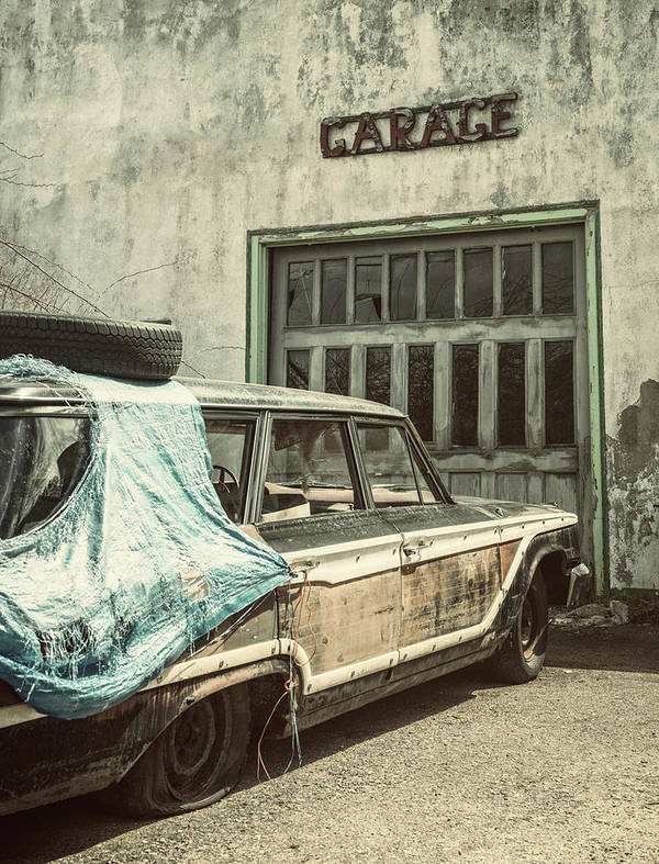 Land Vehicle Art Print featuring the photograph In For Repairs by Shaunl