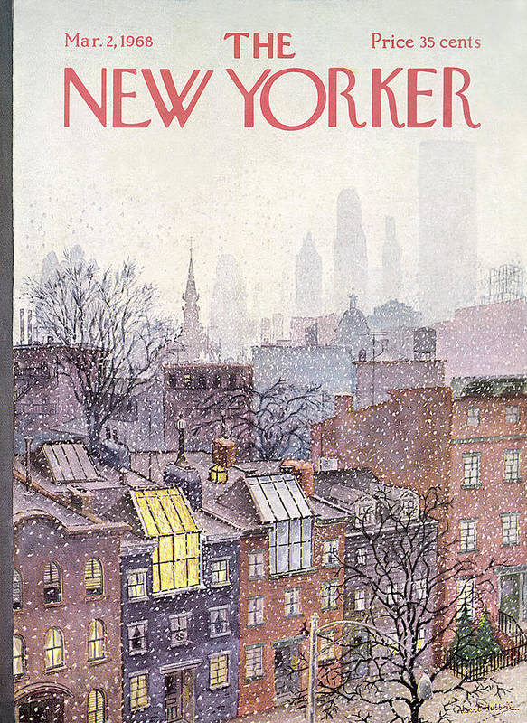 Albert Hubbell Ahu Art Print featuring the painting New Yorker March 2, 1968 by Albert Hubbell