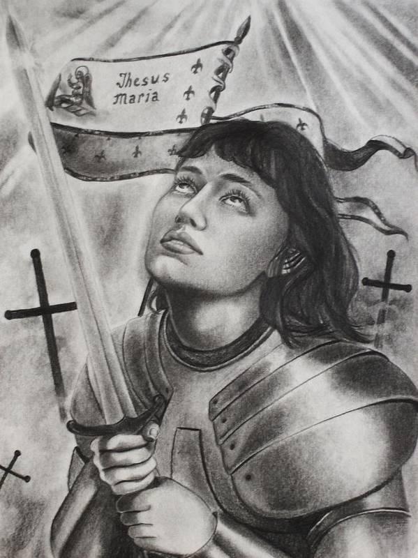 PHOTO PRINT ORIGINAL ART GIFT JOAN OF ARC HOPE POSTER