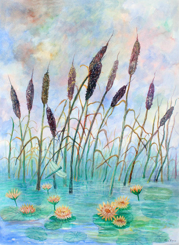Pond Art Print featuring the painting Joy Of Summer by Ben Kiger