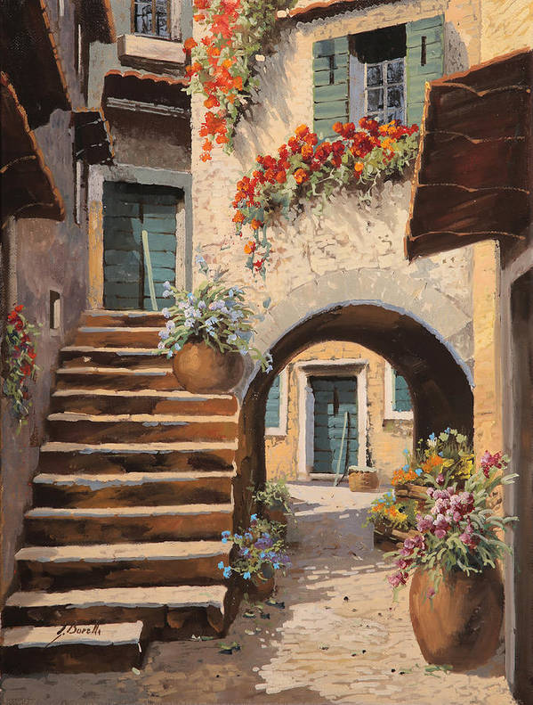 La Porta Dopo Larco HandMade DIY Painting by Numbers Architecture Set Street Painting Canvas With Frame Unique Design Guido Borelli Picture Gift for Adult