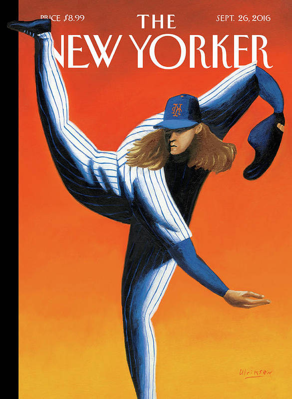 Mets Art Print featuring the painting Late Innings by Mark Ulriksen