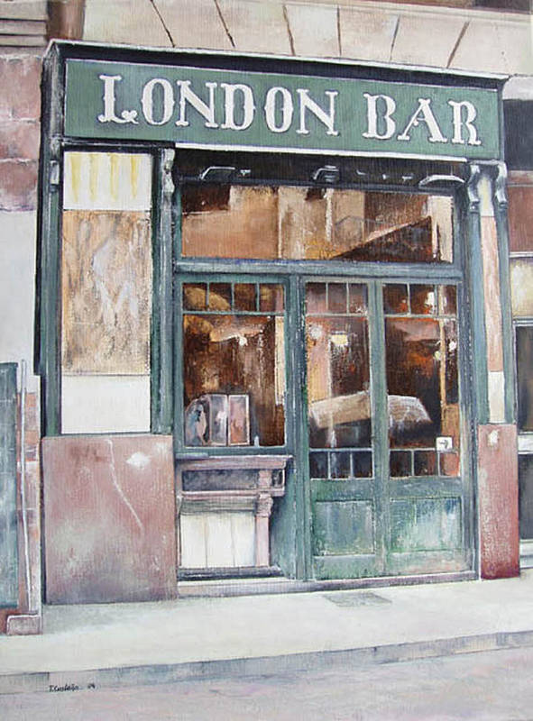 London Art Print featuring the painting London bar-Barcelona by Tomas Castano