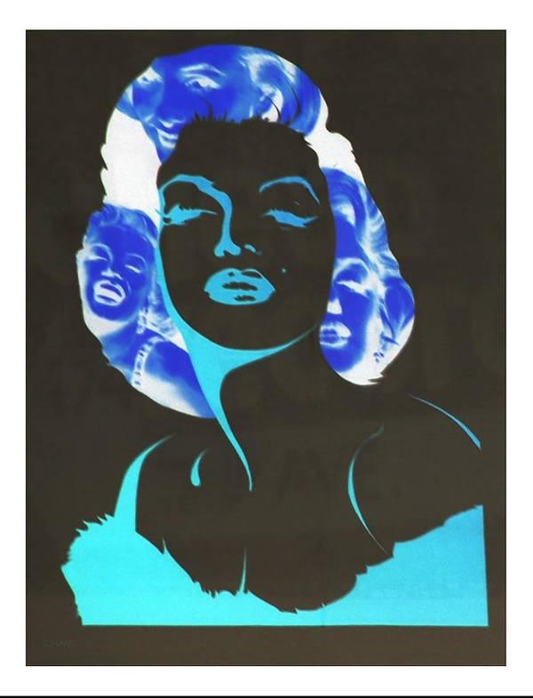 Marilyn Monroe Art Print featuring the photograph M M I N N E G A T I V E O R I G I N A L by Rob Hans