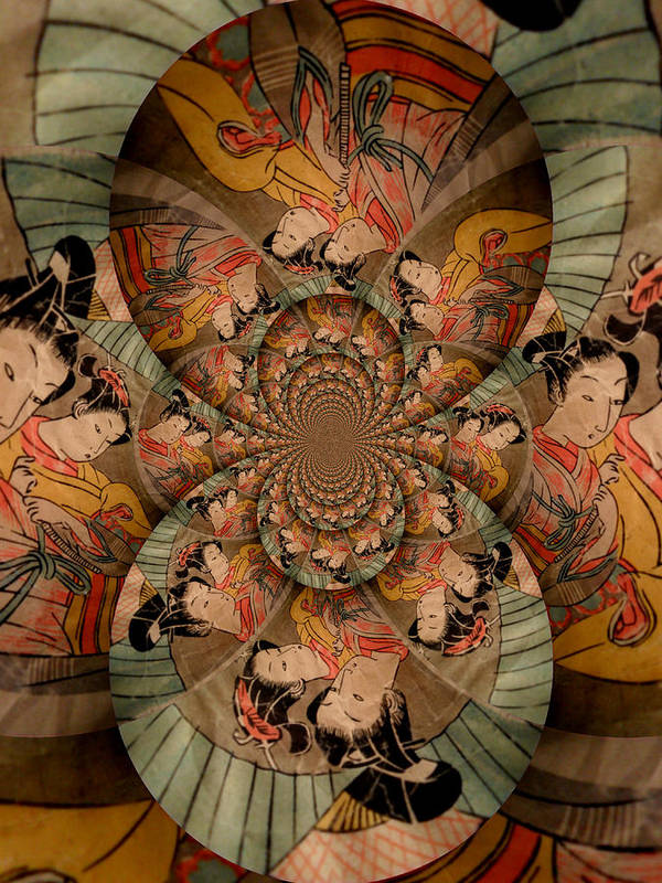 Geisha Art Print featuring the photograph Madame Butterfly by J Andrel