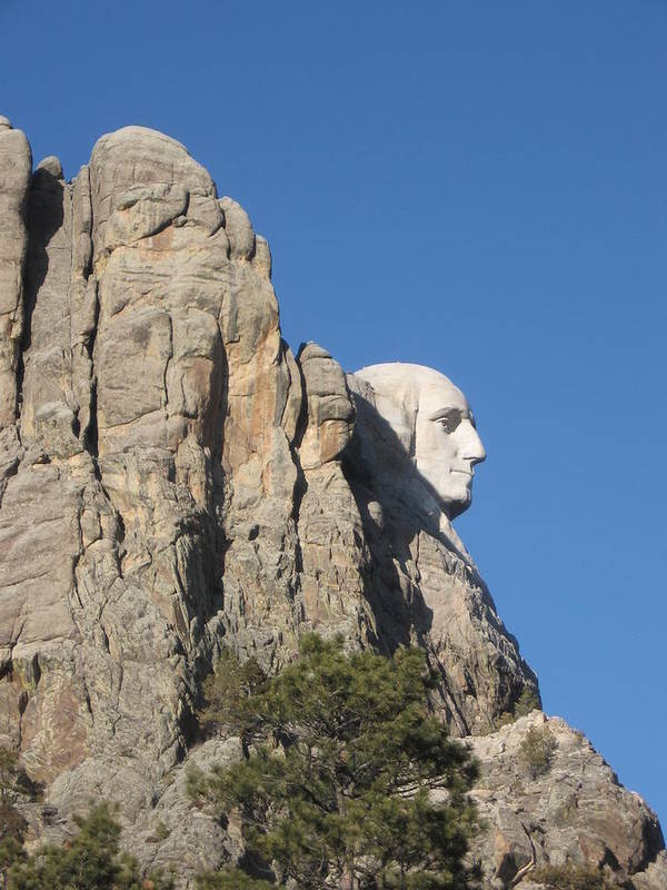 Mt. Rushmore Art Print featuring the photograph Mt.Rushmore from behind by J W Kelly