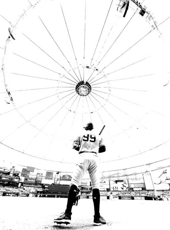 People Art Print featuring the photograph New York Yankees v Tampa Bay Rays by Mike Ehrmann