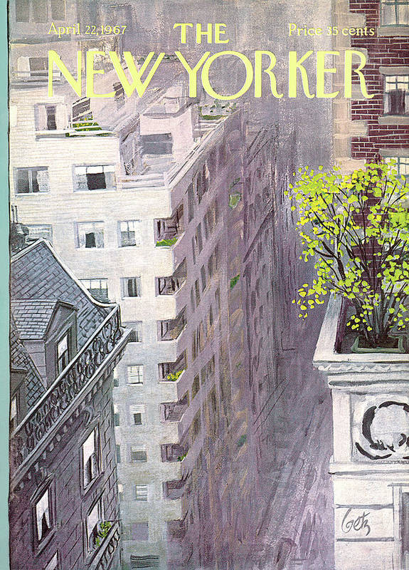 Arthur Getz Agt Art Print featuring the painting New Yorker April 22nd, 1967 by Arthur Getz