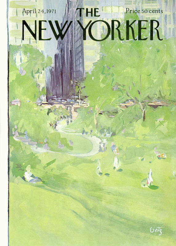 Urban Art Print featuring the painting New Yorker April 24th, 1971 by Arthur Getz
