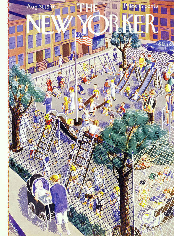 Children Art Print featuring the painting New Yorker August 31 1940 by Ilonka Karasz