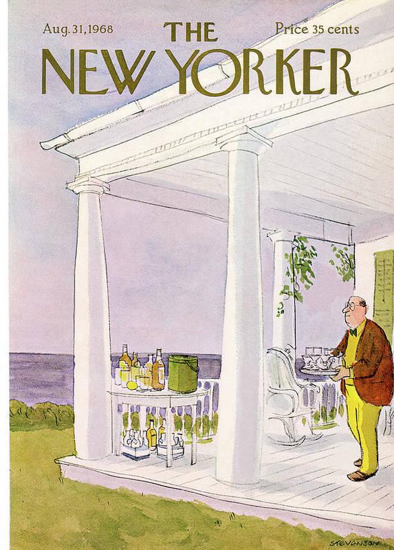 James Stevenson Jst Art Print featuring the painting New Yorker August 31st, 1968 by James Stevenson