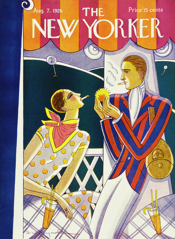 Outdoors Art Print featuring the painting New Yorker August 7 1926 by Stanley W Reynolds