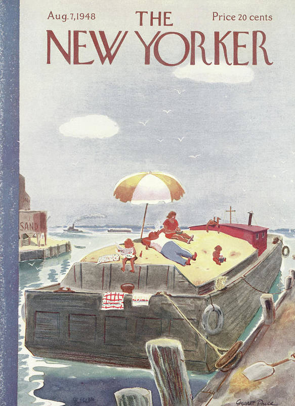 Captain Art Print featuring the painting New Yorker August 7th, 1948 by Garrett Price