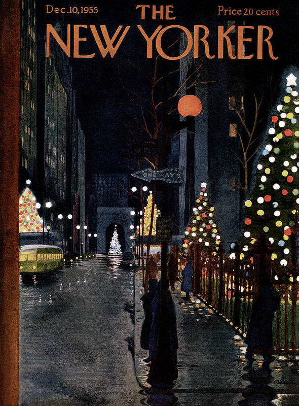 Urban Art Print featuring the painting New Yorker December 10th, 1955 by Alain
