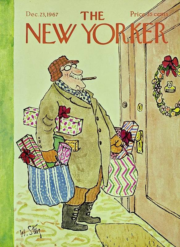 Illustration Art Print featuring the painting New Yorker December 23rd 1967 by William Steig