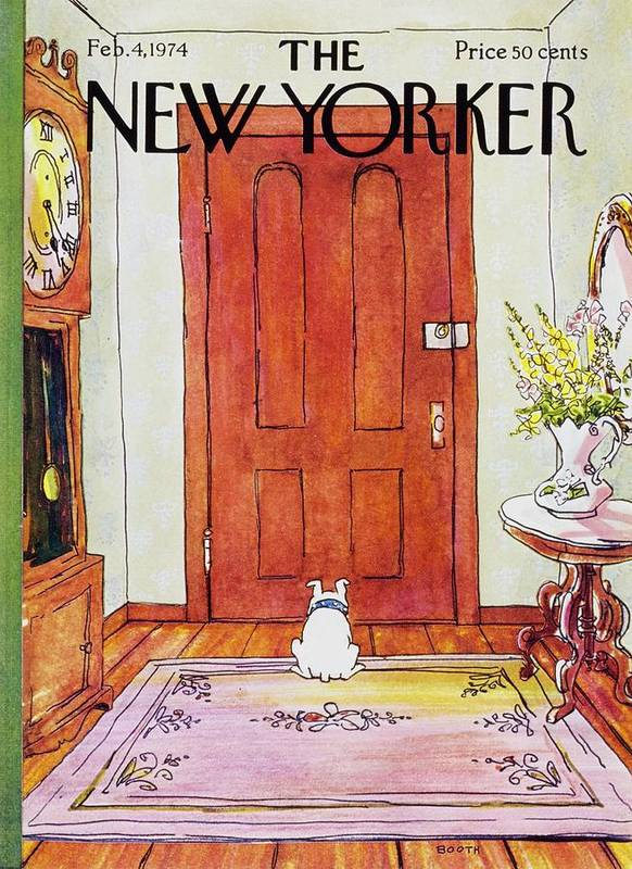 Illustration Art Print featuring the painting New Yorker February 4th 1974 by George Booth