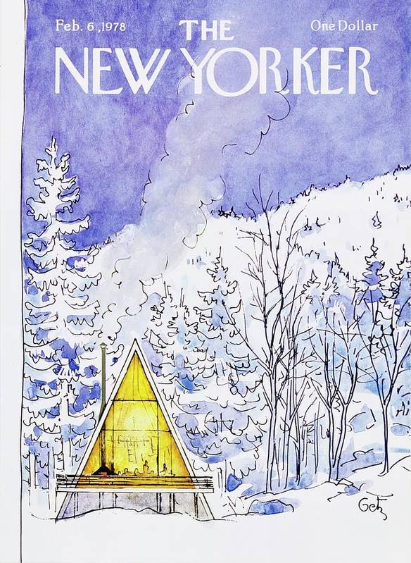 Illustration Art Print featuring the painting New Yorker February 6th 1978 by Arthur Getz