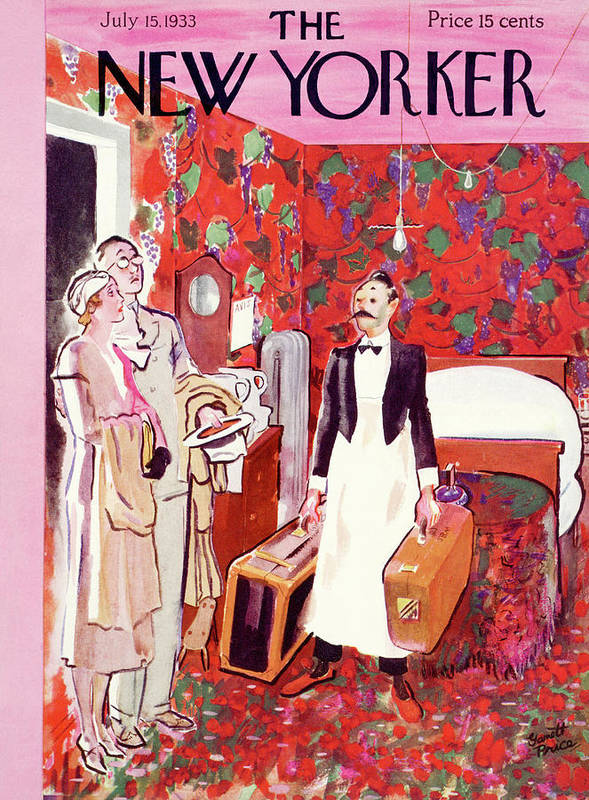 Hotel Art Print featuring the painting New Yorker July 15th, 1933 by Garrett Price