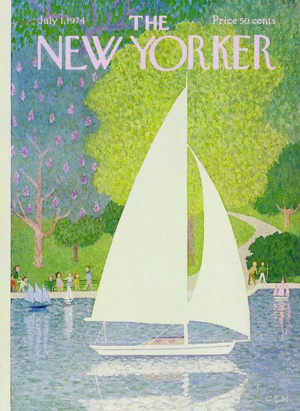 Illustration Art Print featuring the painting New Yorker July 1st 1974 by Charles Martin