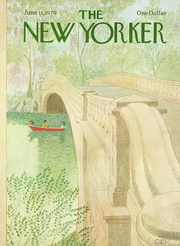 Nature Art Print featuring the painting New Yorker June 11th, 1979 by Charles E Martin