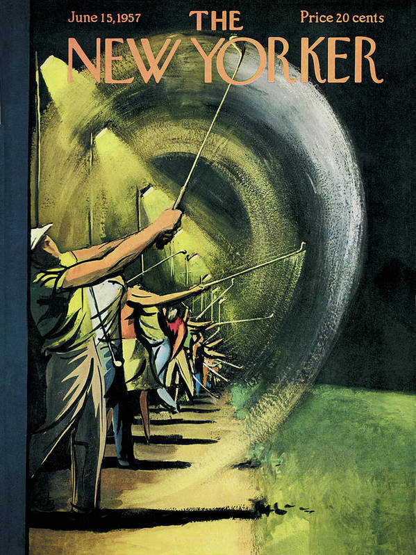 Golf Art Print featuring the painting New Yorker June 15th, 1957 by Arthur Getz