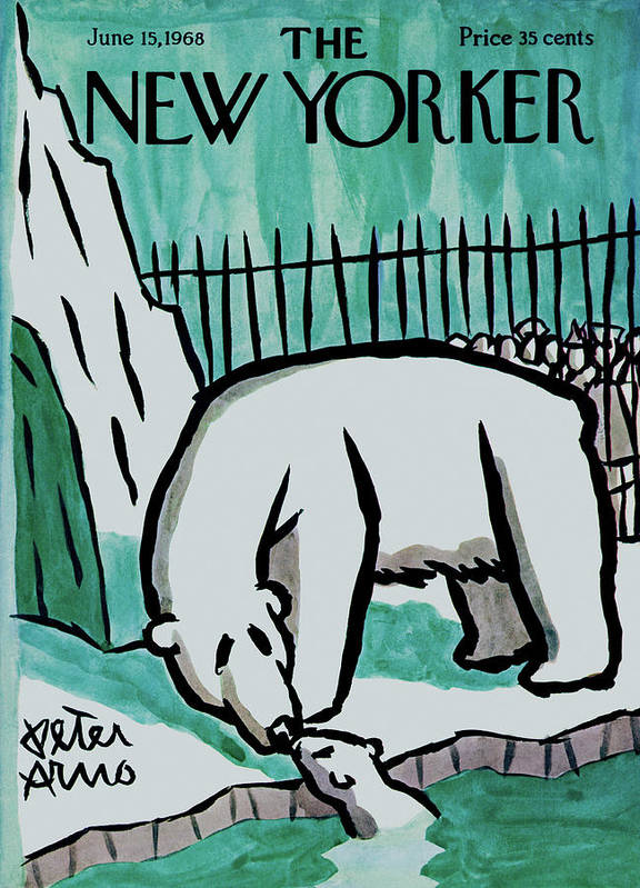 Animals Art Print featuring the painting New Yorker June 15th, 1968 by Peter Arno