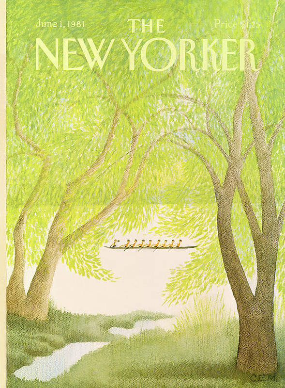 Education Art Print featuring the painting New Yorker June 1st, 1981 by Charles E Martin
