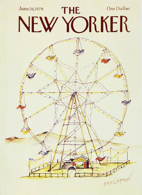Illustration Art Print featuring the painting New Yorker June 26th 1978 by Paul Degen