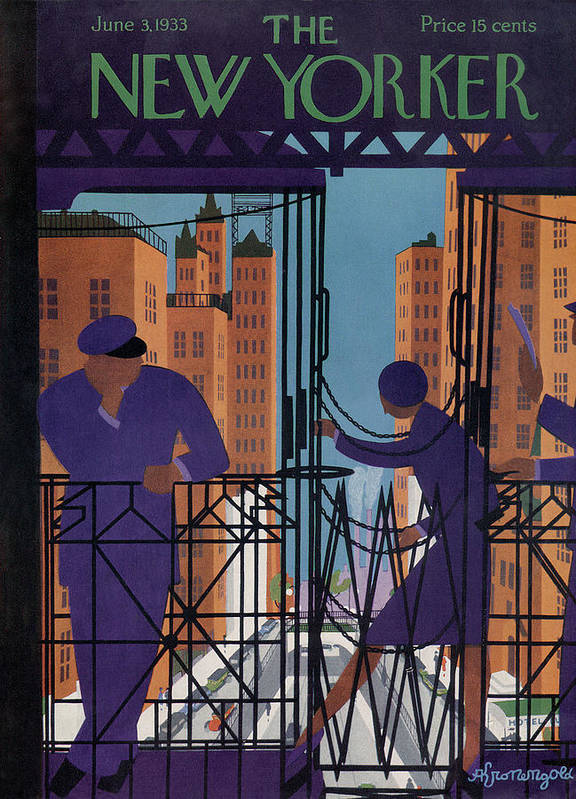 Illustration Art Print featuring the painting New Yorker June 3rd, 1933 by Adolph K Kronengold