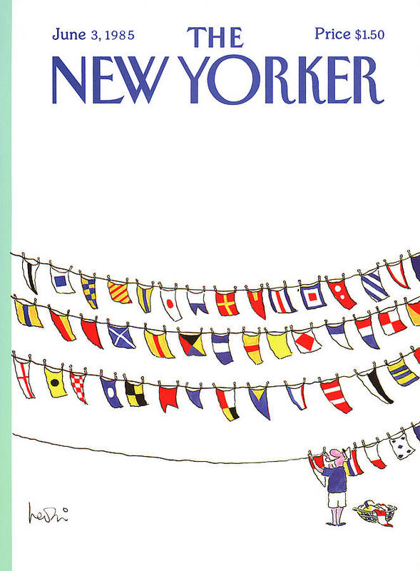 Leisure Art Print featuring the painting New Yorker June 3rd, 1985 by Arnie Levin