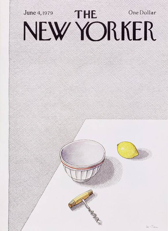 Illustration Art Print featuring the painting New Yorker June 4th 1979 by Pierre Le-Tan