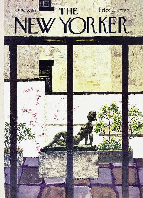Illustration Art Print featuring the painting New Yorker June 5th 1971 by Laura Jean Allen