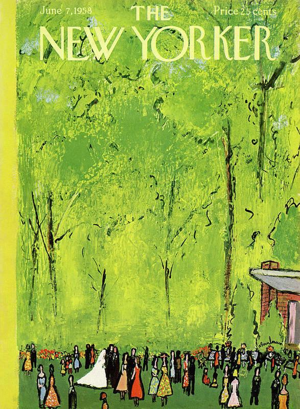 Abe Birnbaum Abi Art Print featuring the painting New Yorker June 7th, 1958 by Abe Birnbaum