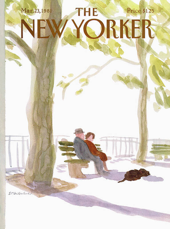 Nature Art Print featuring the painting New Yorker March 23rd, 1981 by James Stevenson