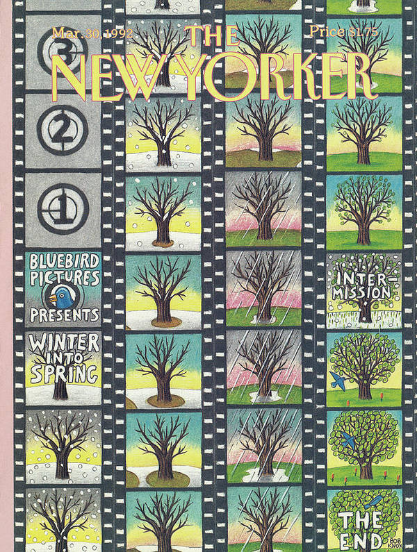 Film Strip Art Print featuring the painting New Yorker March 30th, 1992 by Bob Knox