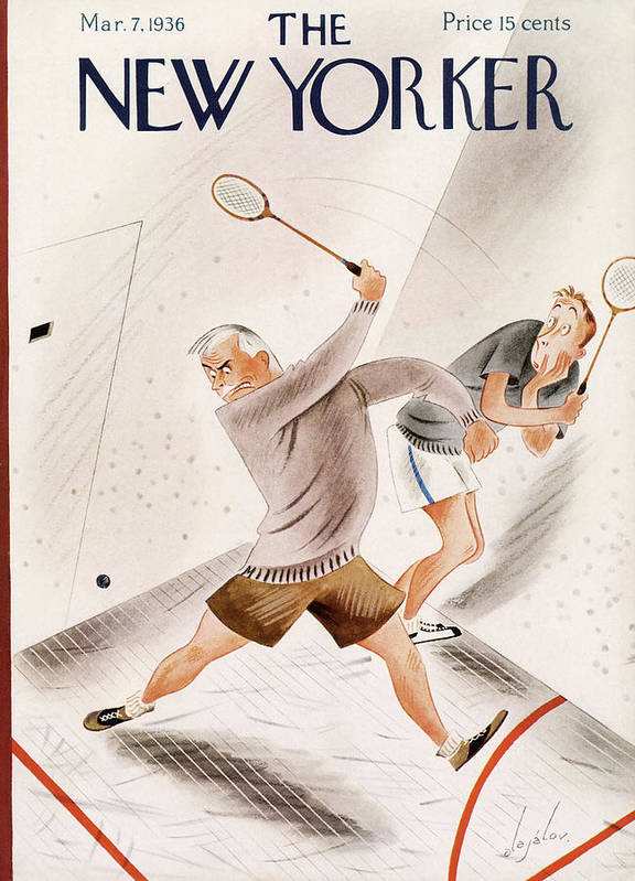 Racquet Ball Art Print featuring the painting New Yorker March 7, 1936 by Constantin Alajalov
