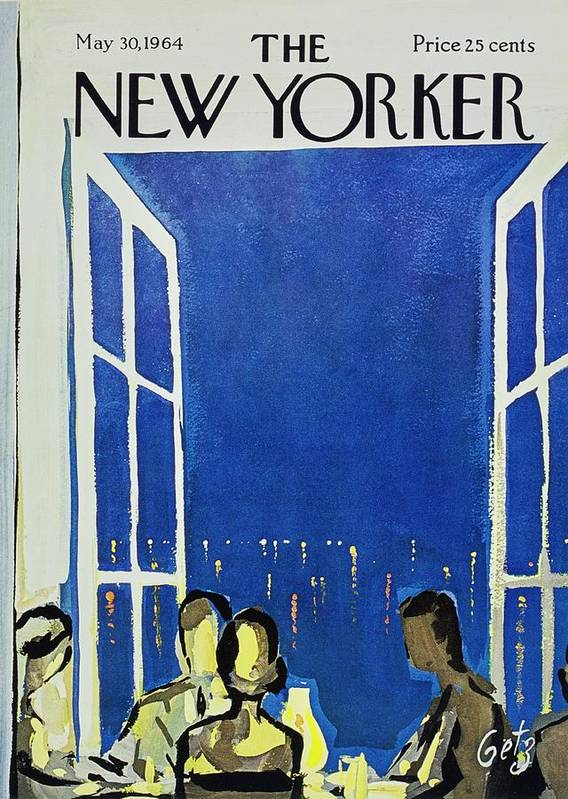 Illustration Art Print featuring the painting New Yorker May 30th 1964 by Arthur Getz