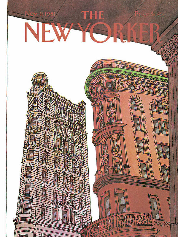 Business Offices Art Print featuring the painting New Yorker November 9th, 1981 by Roxie Munro