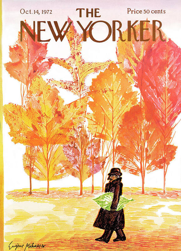 Eugene Mihaesco Art Print featuring the painting New Yorker October 14th, 1972 by Eugene Mihaesco