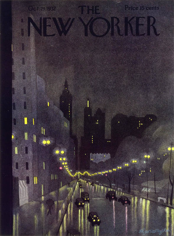 Illustration Art Print featuring the painting New Yorker October 29 1932 by Arthur K Kronengold