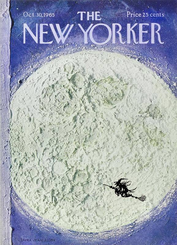 Illustration Art Print featuring the painting New Yorker October 30th 1965 by Laura Jean Allen